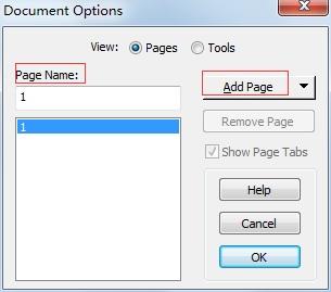 文档选项对话框