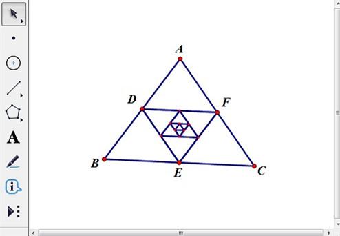 利用迭代构造中点三角形