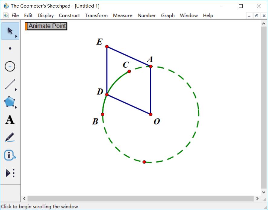 構造平行四邊形OAED