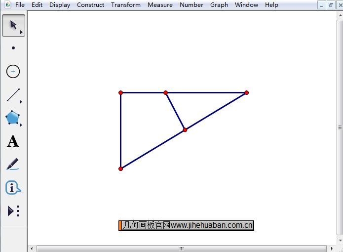 在三角形里面画线