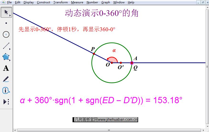 动态演示0-360°角