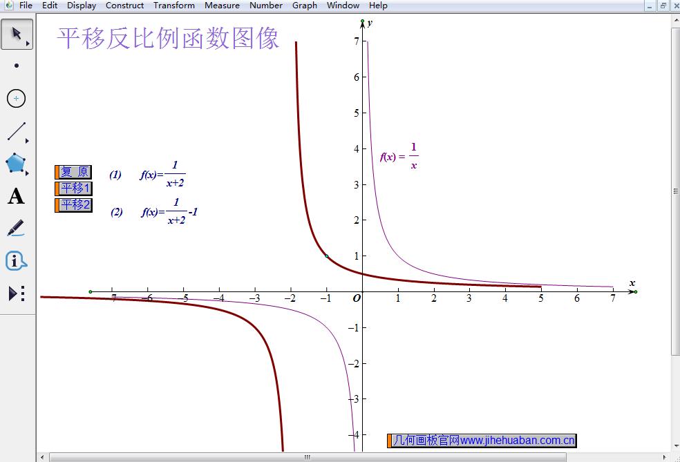 平移反比例函数