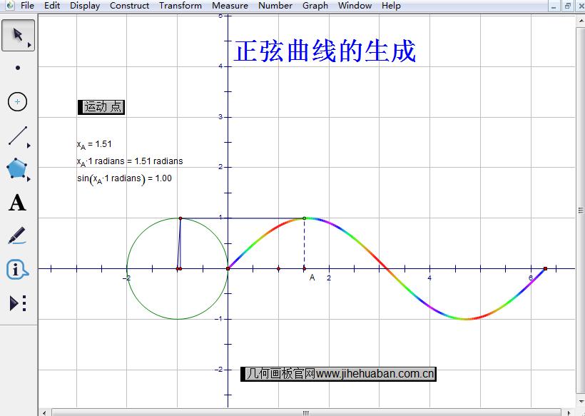 正弦曲线的生成