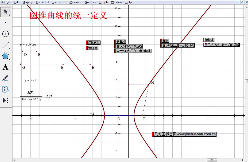 圆锥曲线统一定义