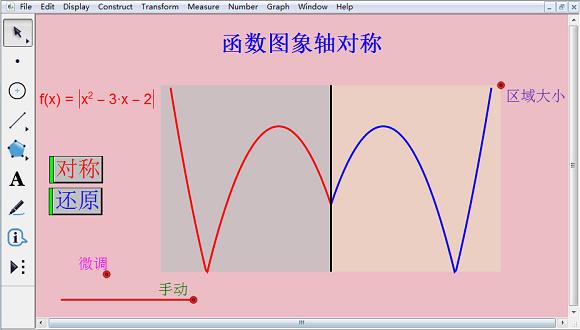 演示函数图像轴对称