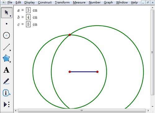 構造兩圓得到交點