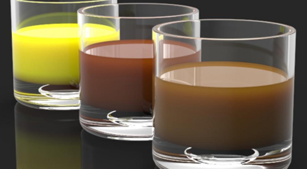 半透明材质创建液体