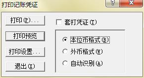 金蝶KIS记账王打印记账凭证