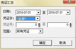 输入凭证汇总条件