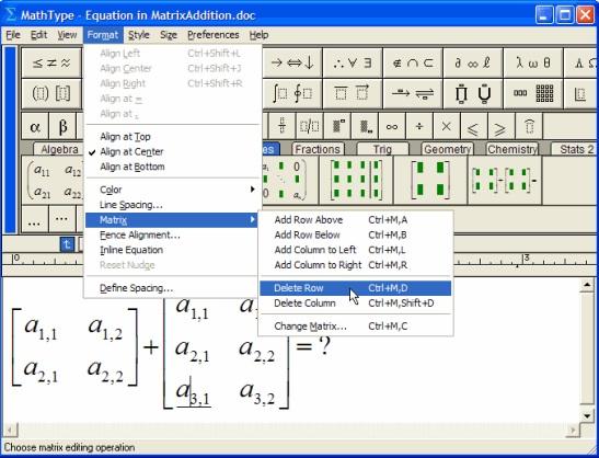 MathhType矩阵