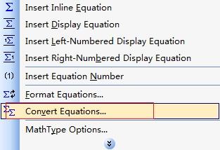 MathType转换功能