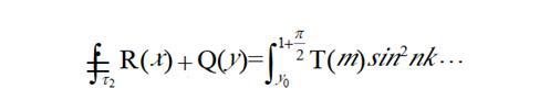 有环积分号的单行数式排列规则