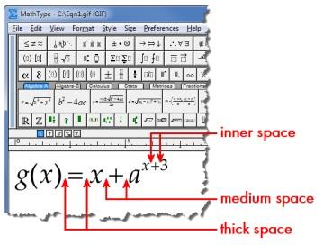 MathType空格键