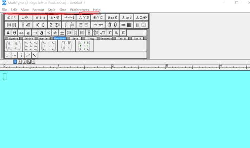 MathType常用的设置条目