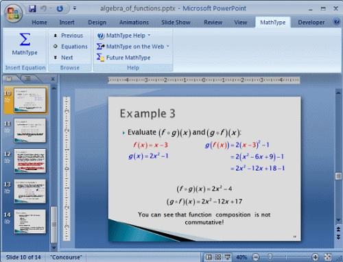 MathType在PPT中的使用