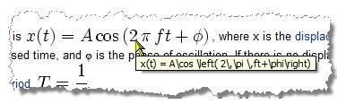 从维基百科等网站复制公式到MathType中