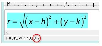 MathType公式大小
