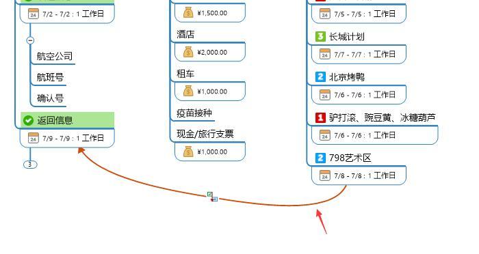 图10:单向连接线