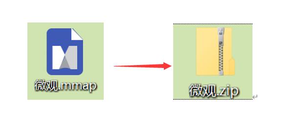 将文件后缀mmap修改为zip