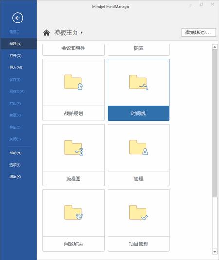 图2:MindManager软件模板页面