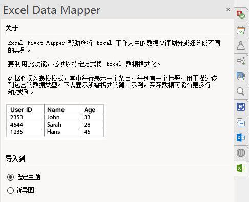 怎么将Excel表格的数据快速转换为思维导图?