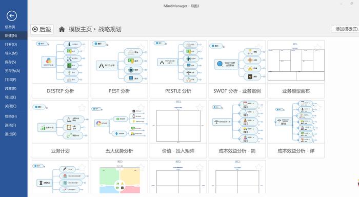 图五:MindManager战略策划模板