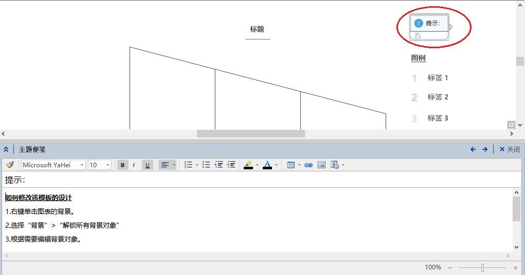 图3:解锁漏斗图模板的提示