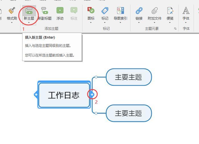 图2:插入新主题