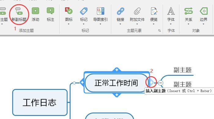 图3:插入副主题