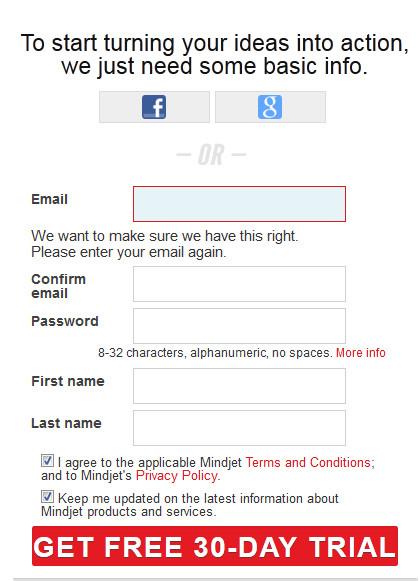 注册账户信息