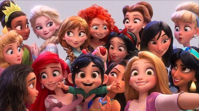 迪士尼公主合照
