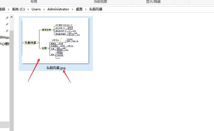 图7:保存为图片的部分导图