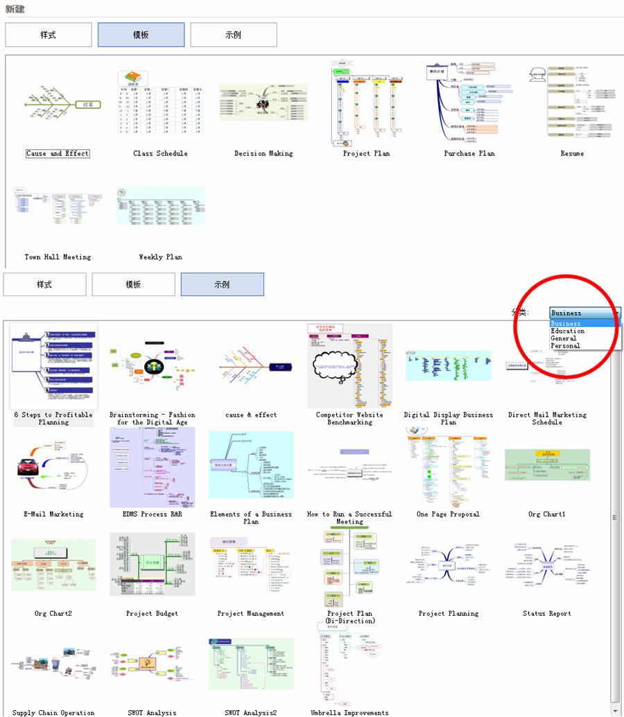 MindMapper模板示例