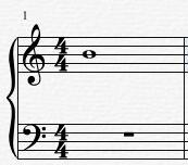 乐谱中的全音符