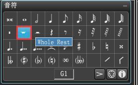 Overture音符界面全休止符图标