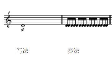 震音记号的写法