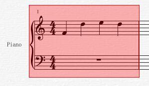左键拖选需要添加断音记号的音符