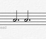 需要添加延音线的音符