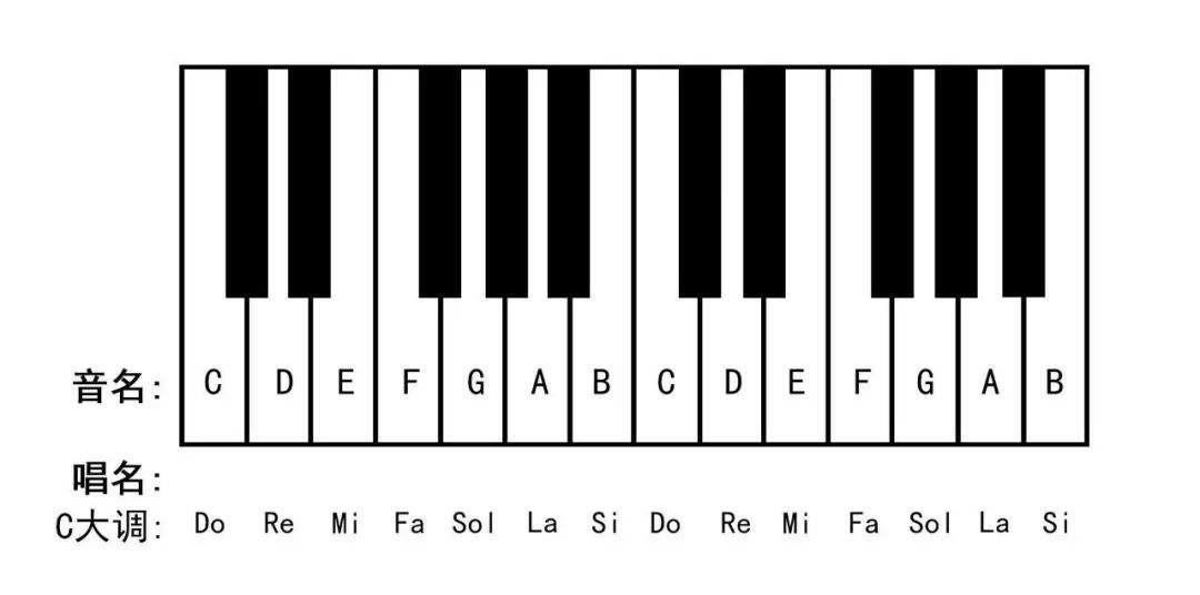 钢琴小常识—音名和唱名大家都知道吗?