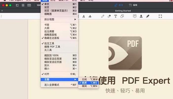 PDF Expert for Mac阅读主题