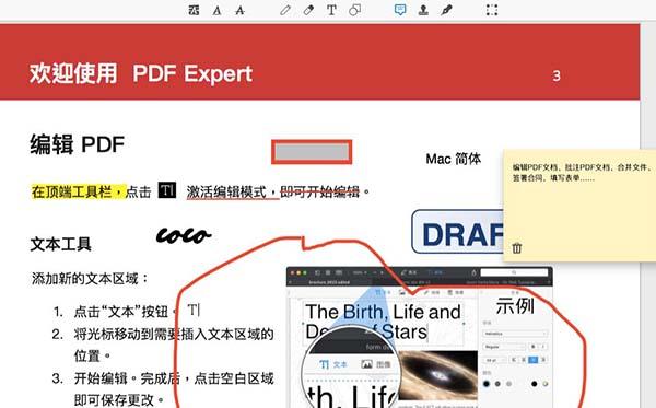 带有注释的PDF文档