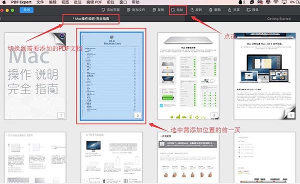 粘贴页面至另一个PDF文档