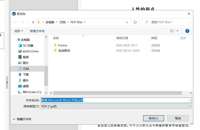 图2:文件保存界面