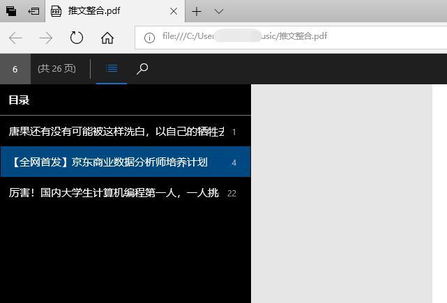 PDF目录预览