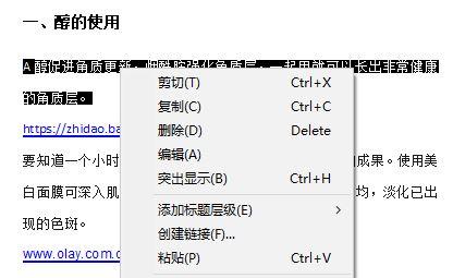 文本编辑功能