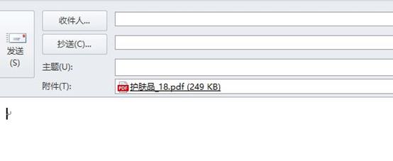 粘贴PDF文档界面