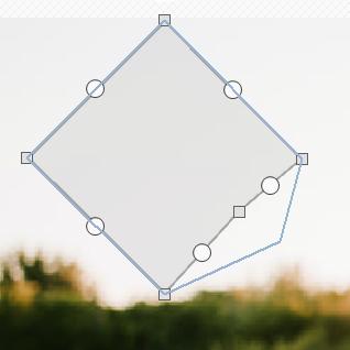 图9:将图形拖拽成你想要的形状