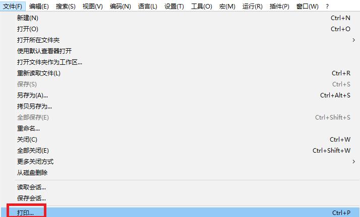 Notepad++打印python代码