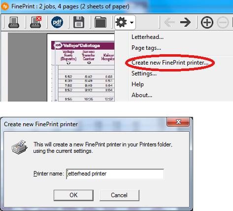 创建新的FinePrinter按钮