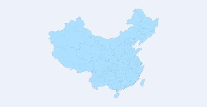 空白的部分地图